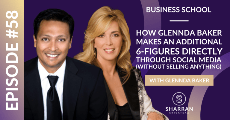 Episode 58: How Glennda Baker Makes an Additional 6-Figures Directly Through Social Media (Without Selling Anything)
